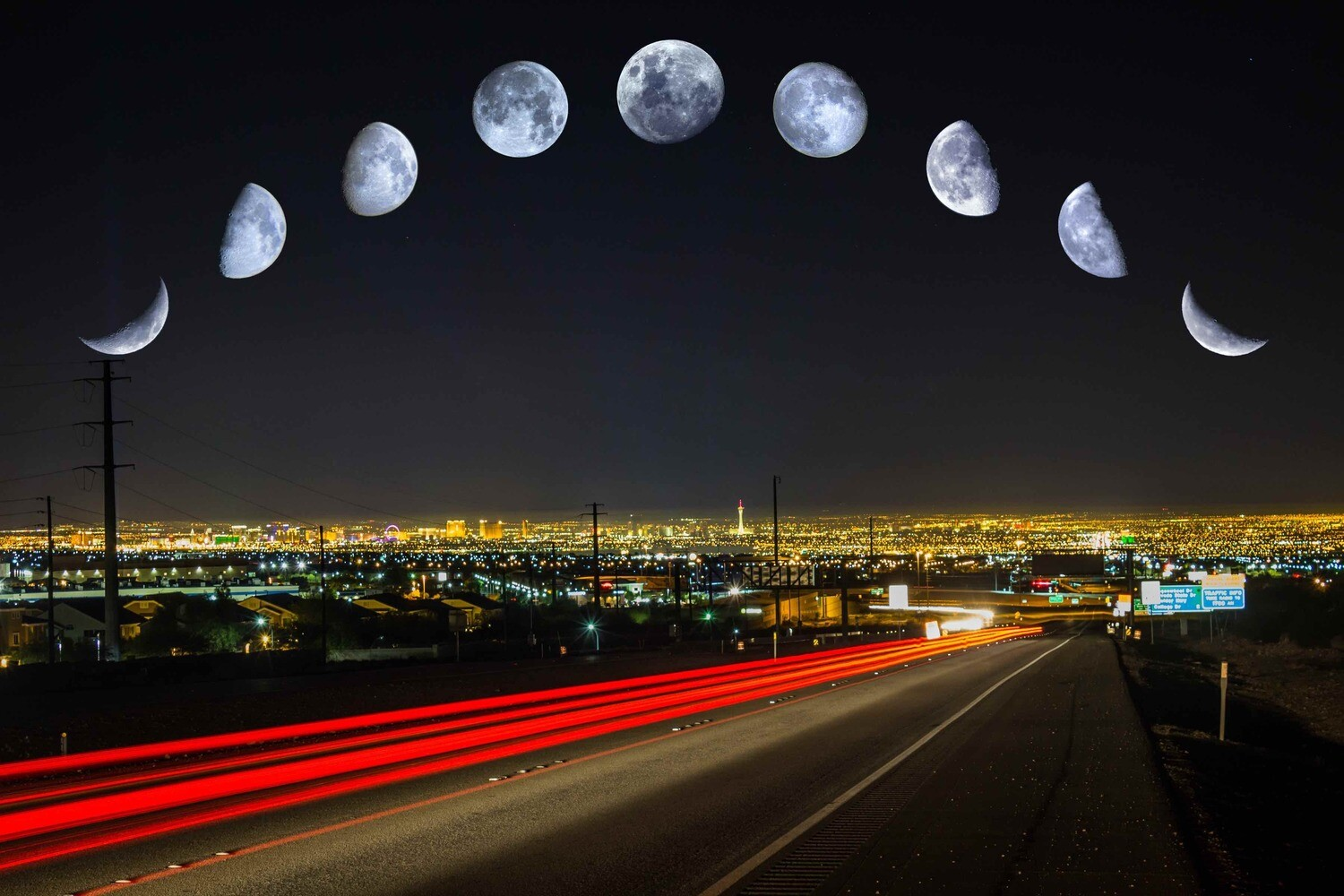 Moon Phases over Las Vegas