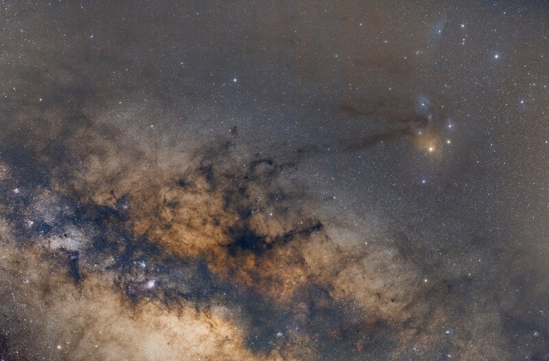 Rho Ophiuchi and the Milky Way