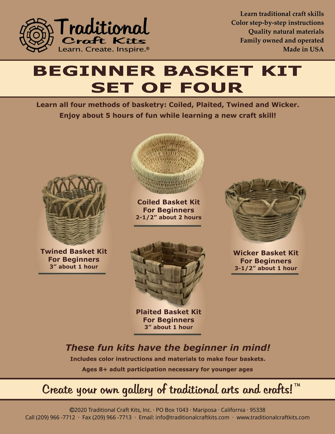 Beginner Basket Kit - Set of Four
