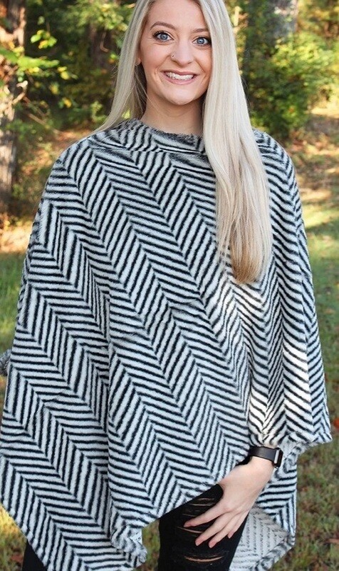 Chilled To The Bone Faux Fur Poncho
