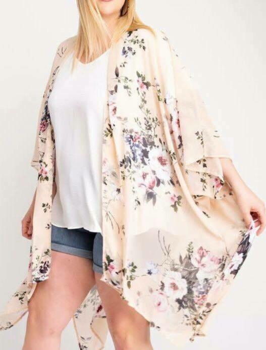 Floral Kimono - Plus