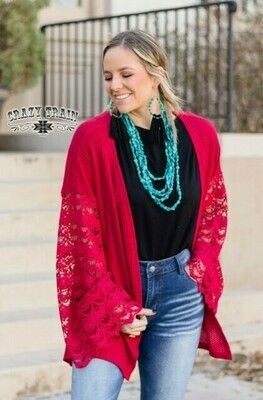 CRAZY TRAIN CUPID CROCHET CARDIGAN