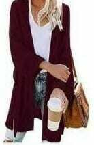 Wine Knit Cardigan