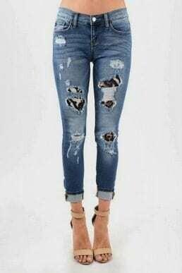 Judy Blue Jeans - Leopard Distress