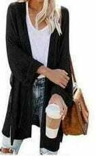Black Knit Cardigan