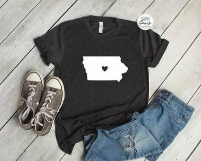 Iowa - Heart Tee