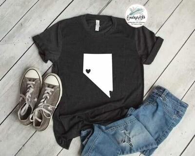 Nevada - Heart Tee