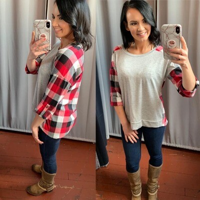 Brenda Flannel Back Top
