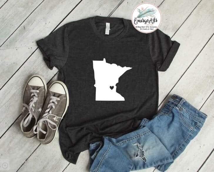 Minnesota - Heart Tee