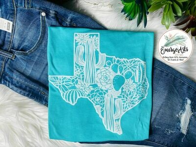 Texas Cactiscape - Graphic Tee