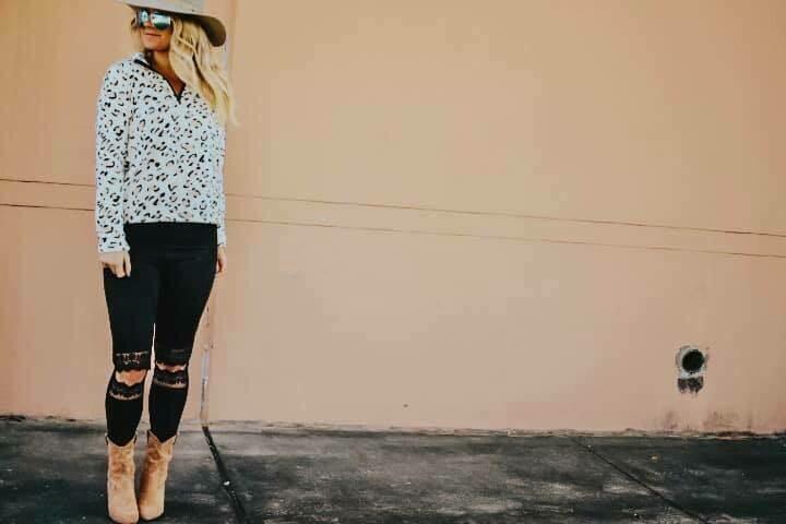 Cheetah Zip Up