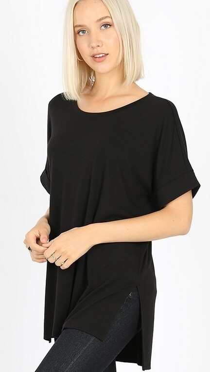 Black Cuffed Sleeve Tunic