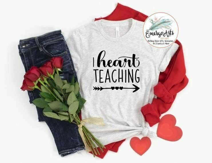 I Heart Teaching Tee