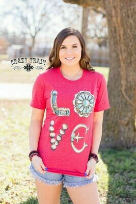CRAZY TRAIN Concho Love Tee