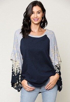 Mira Floral Sleeve Top
