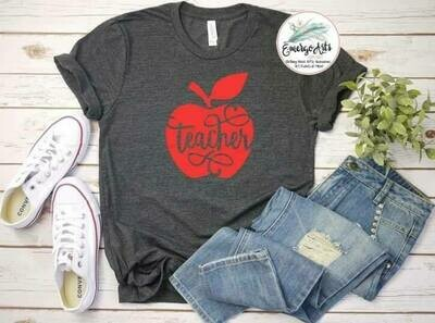Teacher Apple Tee