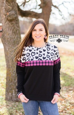 Crazy Train Leopard Love Pull Over