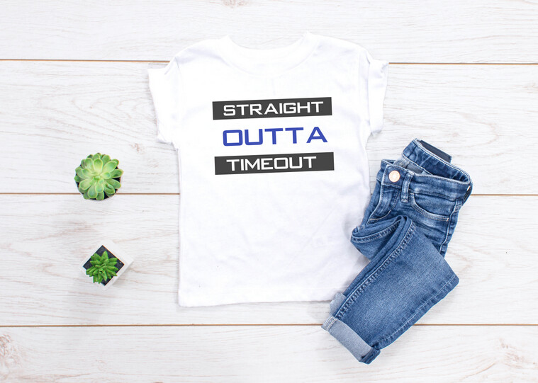 Straight Out of Timeout Tee