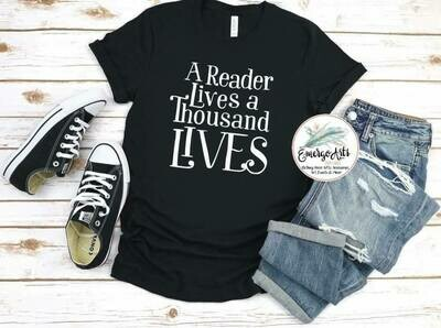 Reader lives a thousand lives Tee