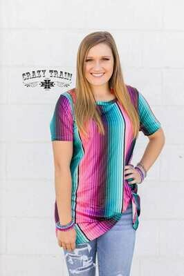 CRAZY TRAIN SERAPE TOP