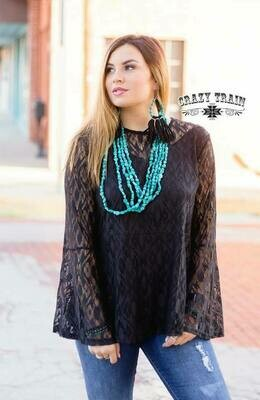 CRAZY TRAIN Hartlii Lace Top