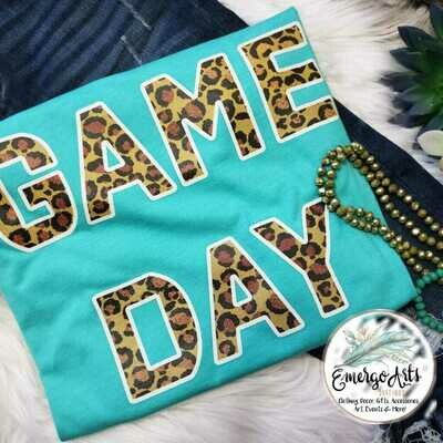 GAME DAY LEOPARD PRINT TEE