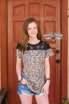 CRAZY TRAIN LEOPARD & LACE TOP