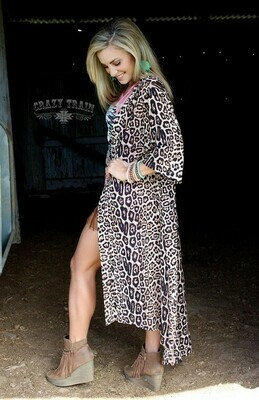 CRAZY TRAIN LEOPARD DUSTER