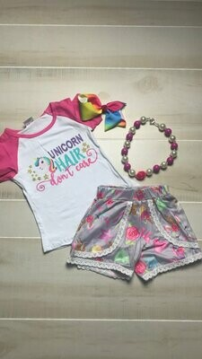 UNICORN HAIR 2PC SHORTS