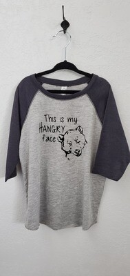 HANGRY FACE KIDS RAGLAN