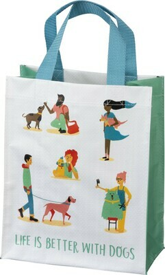 Primitives by Kathy LIFE IS BETTER WITH DOGS daily tote