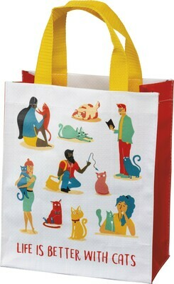 Primitives by Kathy LIFE IS BETTER WITH CATS daily tote
