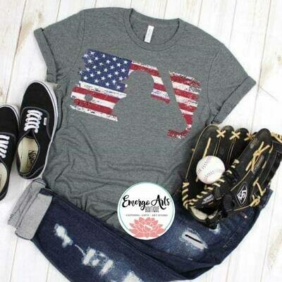 Baseball Flag Tee