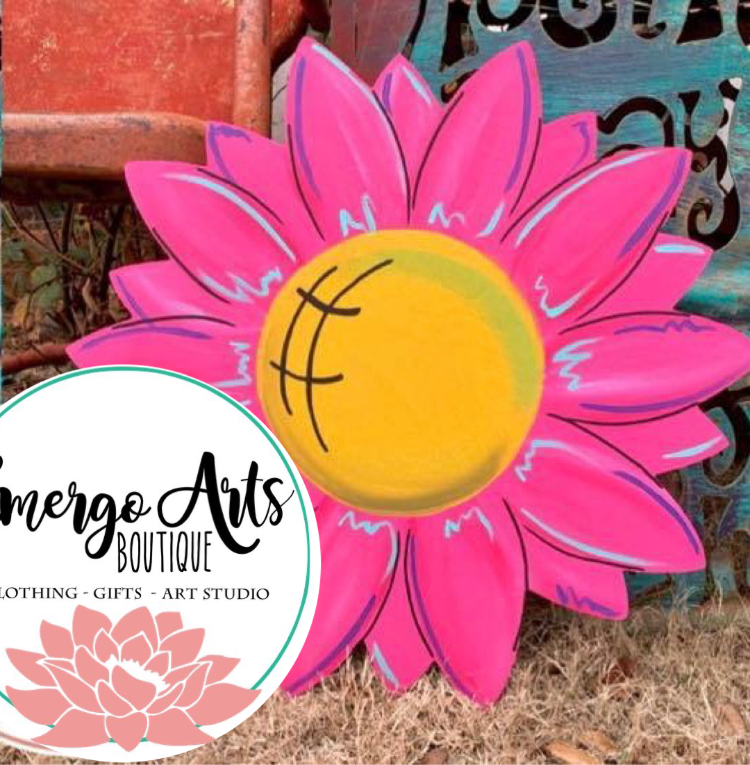 Flower Door Hanger - Painted