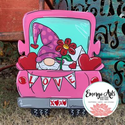 Love Truck Door Hanger - Painted