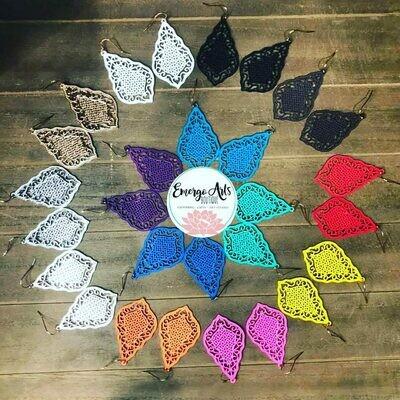 Boho Filigree Colored Earrings