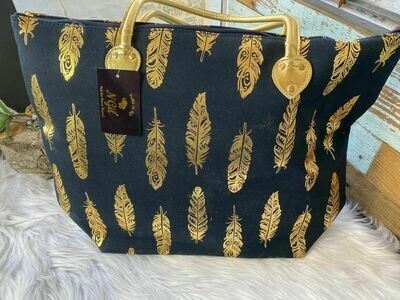 Navy & Gold Tote Bag