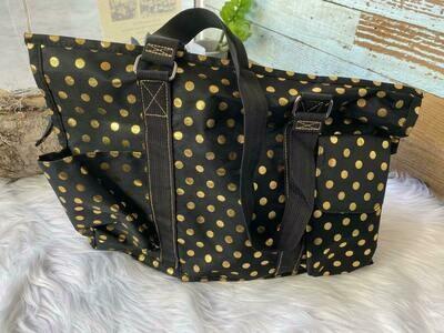 Black & Gold Carry All Bag