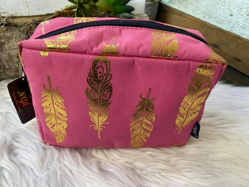 Pink & Gold Cosmetic Bag