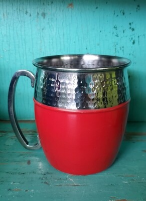 RED/STAINLESS MULE MUG