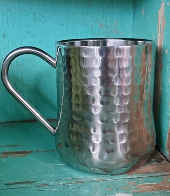HAMMERED STAINLESS MULE MUG