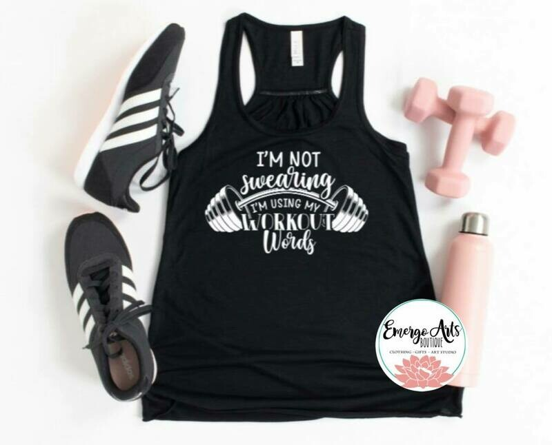 Workout Words Tank or Tee