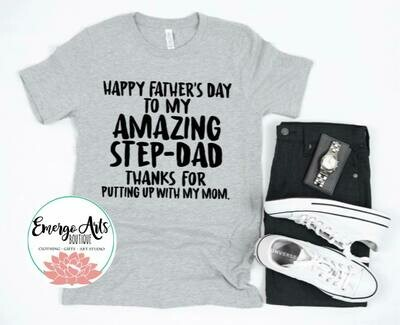 Amazing Step Dad Fathers Day Tee