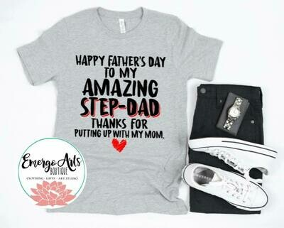 Amazing Step Dad Love Fathers Day Tee