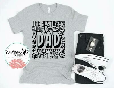 Wordy Dad Fathers Day Tee