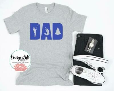 Fishing Dad Fathers Day Tee