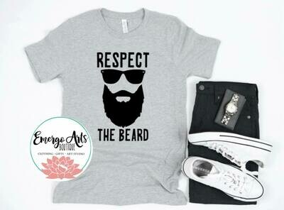 Respect the beard Fathers Day Tee