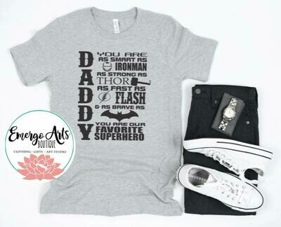 Super Hero Daddy Fathers Day Tee