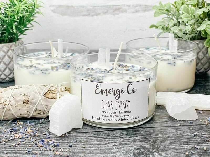 Clear Energy - Emergo Co. Soy Candles