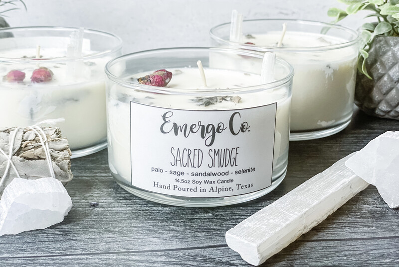 Sacred Smudge - Emergo Co. Soy Candles